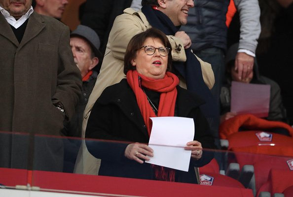 Martine Aubry au Stade Pierre Mauroy le 14 avril 2019 à Lille, France. | Photo : Getty Images