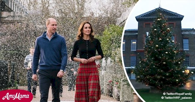 Kate Middleton and Prince William have an incredible Christmas tree outside Kensington Palace