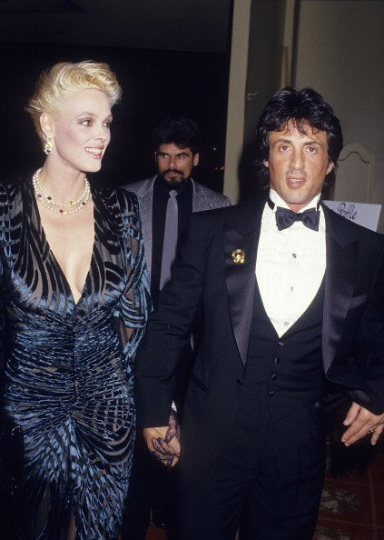 Brigitte Nielsen and Sylvester Stallone on January 9, 1987 at the Beverly Wilshire Hotel in Beverly Hills, California. | Photo: Getty Images