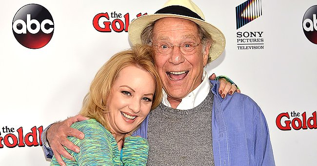 """Wendi McLendon-Covey and George Segal at the """"The Goldbergs"""" press event held at Moonlight Rollerway in Glendale, California 