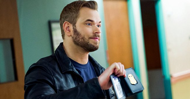 """Actor Kellan Lutz on the set of """"FBI: Most Wanted"""" during the March 19 episode in New York City 