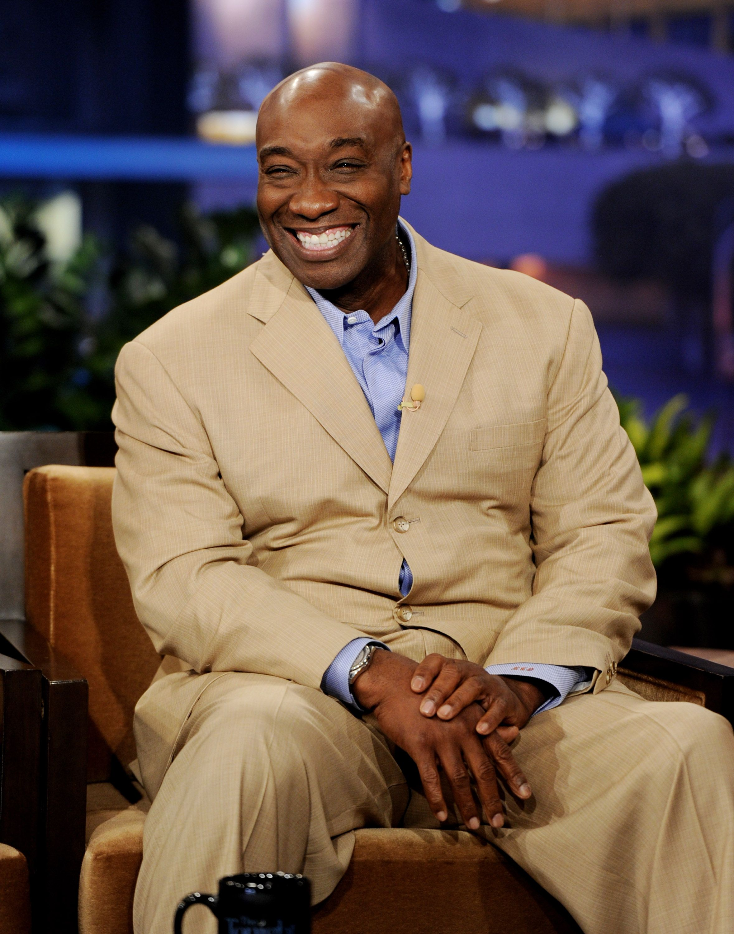 """Michael Clarke Duncan appears on """"The Tonight Show With Jay Leno"""" at NBC Studios on February 20, 2012 