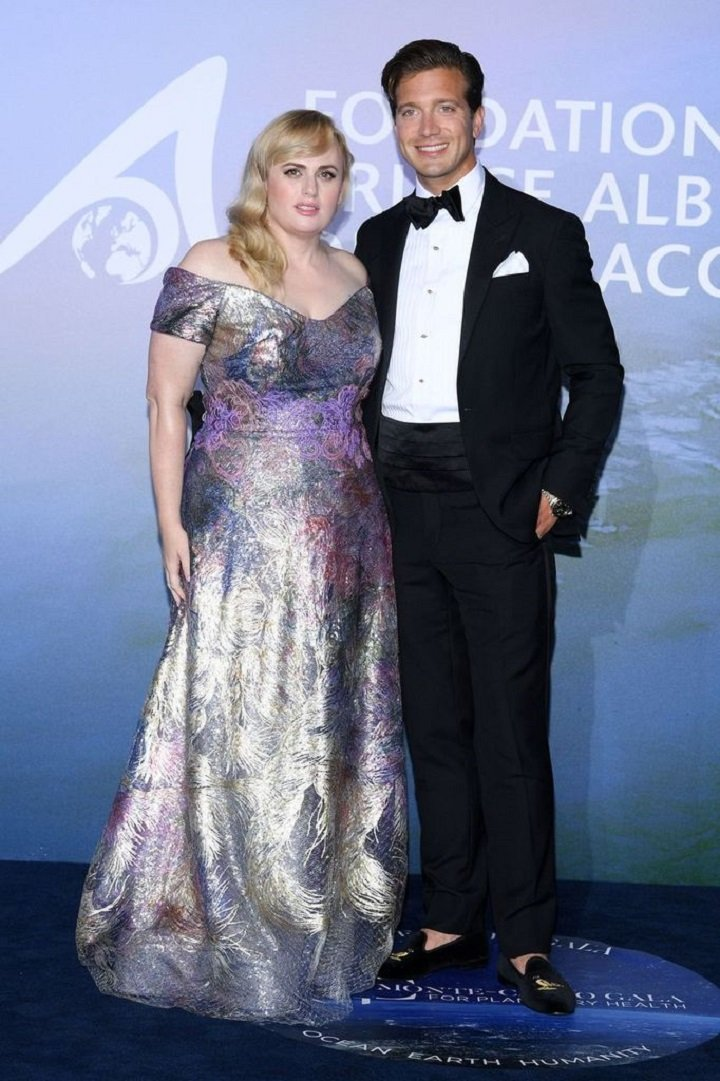 Rebel Wilson and Jacob Busch attending the Monte-Carlo Gala For Planetary Health in Monte-Carlo, Monaco  in September 2020.   Image: Getty Images.