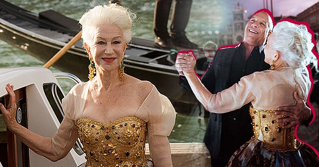 Hele Mirren arrives at the Dolce & Gabbana Show in style and shares a dance with Vin Diesel Photo: instagram.com/helenmirren Getty Images