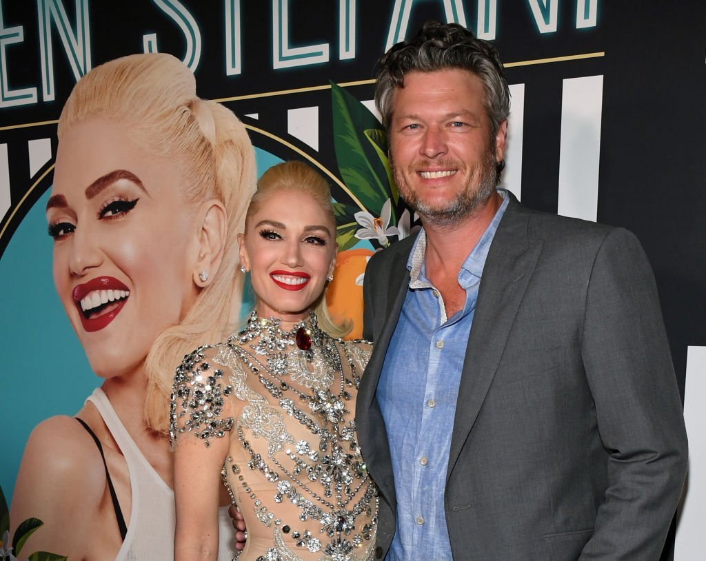 """Gwen Stefani and Blake Shelton at the grand opening of her """"Gwen Stefani - Just a Girl"""" residency. 
