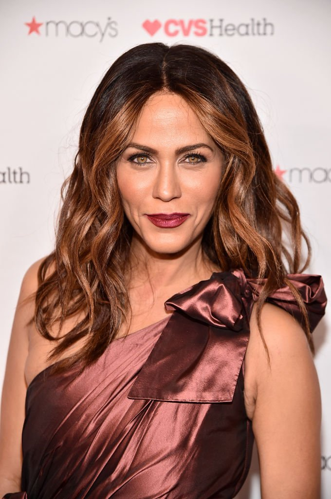 """Actress Nicole Ari Parker attends the 2019 """"Go Red For Women's Dress Collection"""" of The American Heart Society in New York City. 