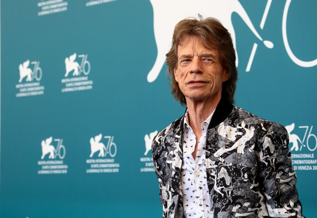 """Mick Jagger attends """"The Burnt Orange Heresy"""" photocall during the 76th Venice Film Festival at Sala Grande on September 07, 2019 
