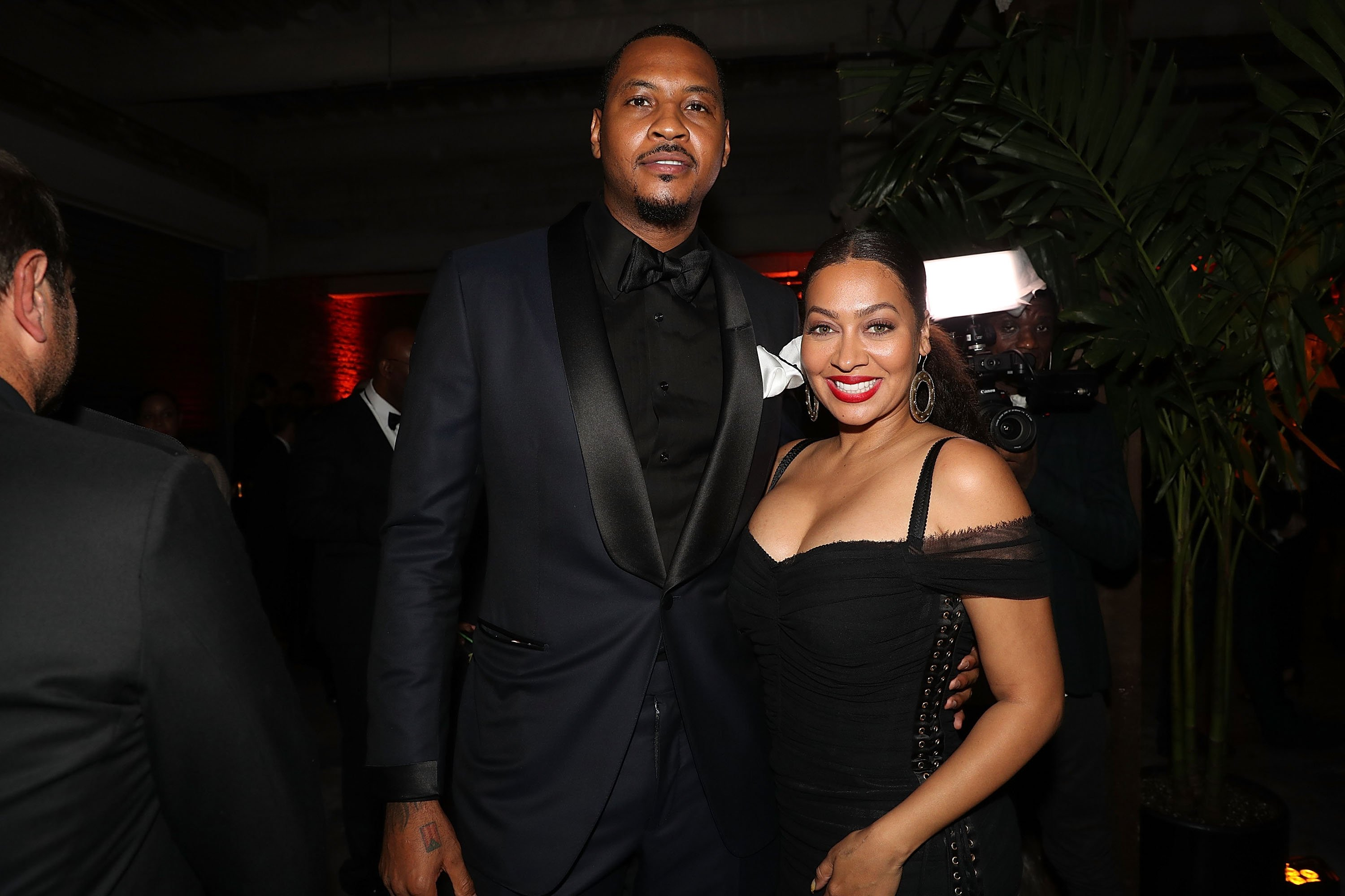 Carmelo Anthony and Lala Anthony/ Source: Getty Images
