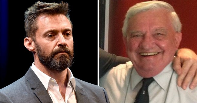 Actor Hugh Jackman on the left and his father, Chris Jackman, on the right | Photo: Stefan Gosatti/Getty Images + Getty Images + Instagram.com/thehughjackman