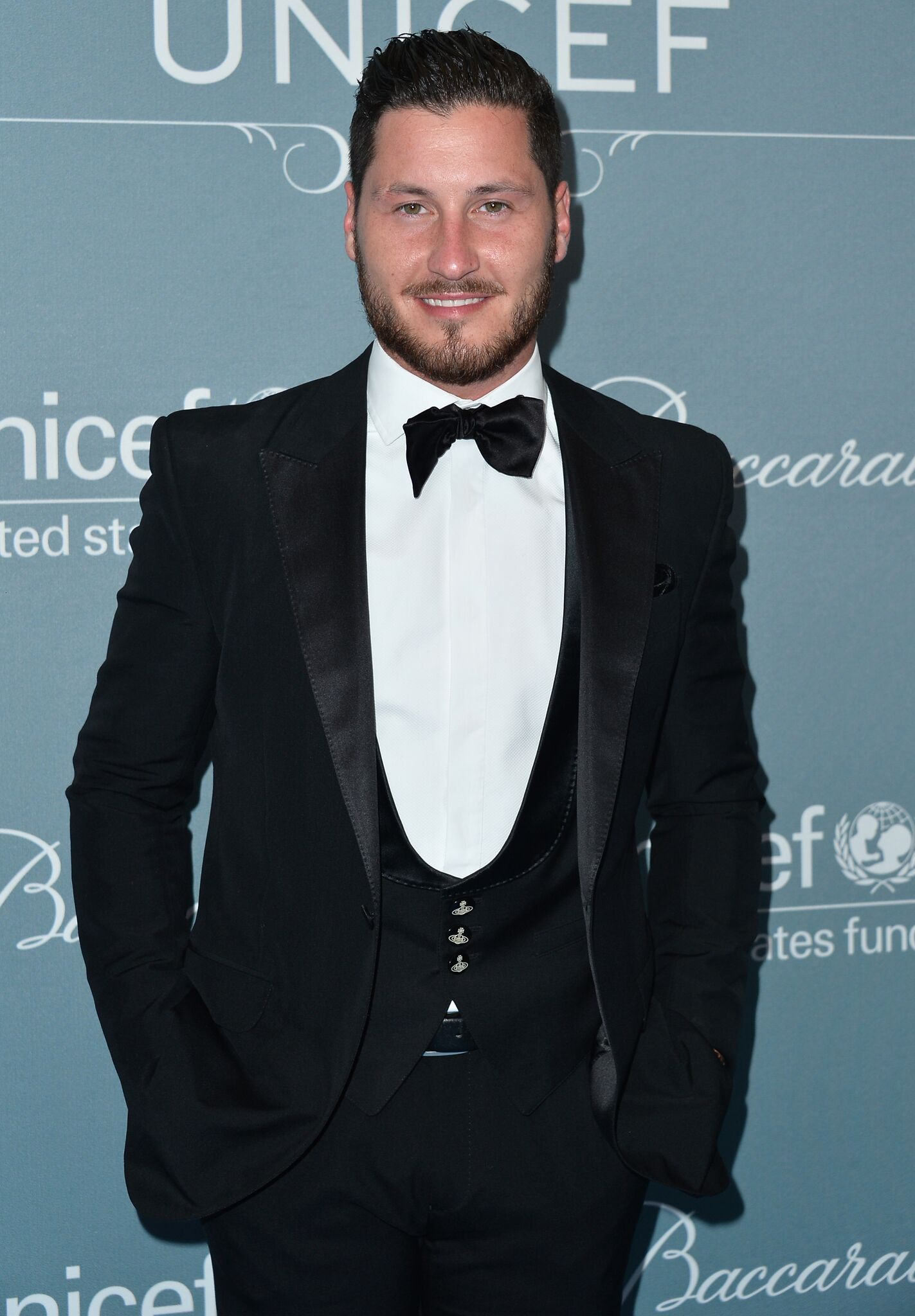 Val Chmerkovskiy arrives to the 2014 UNICEF Ball Presented by Baccarat at the Regent Beverly Wilshire Hotel | Getty Images / Global Images Ukraine