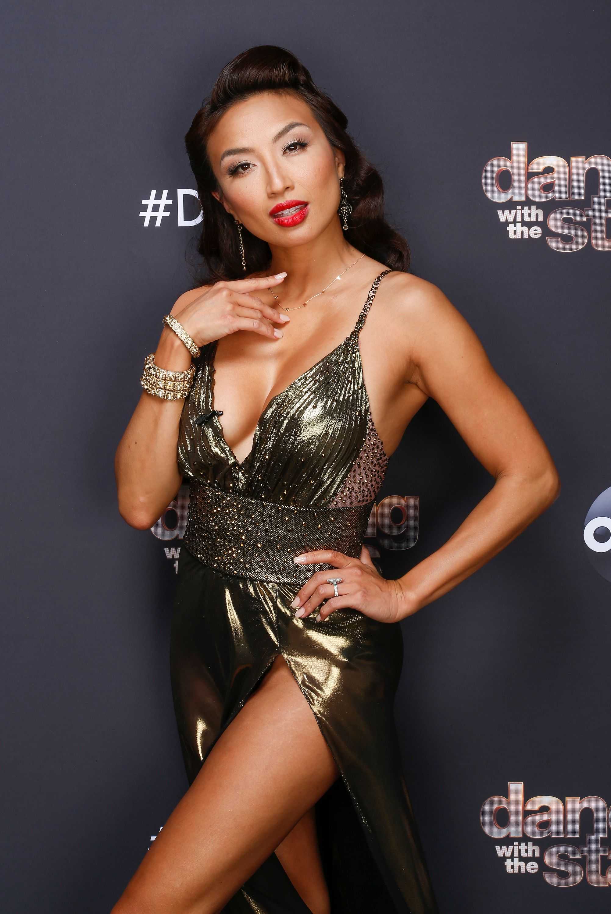 """Dancer Jeannie Mai on set at """"Dancing With The Stars""""  Season 29 - Week Six, 2020 