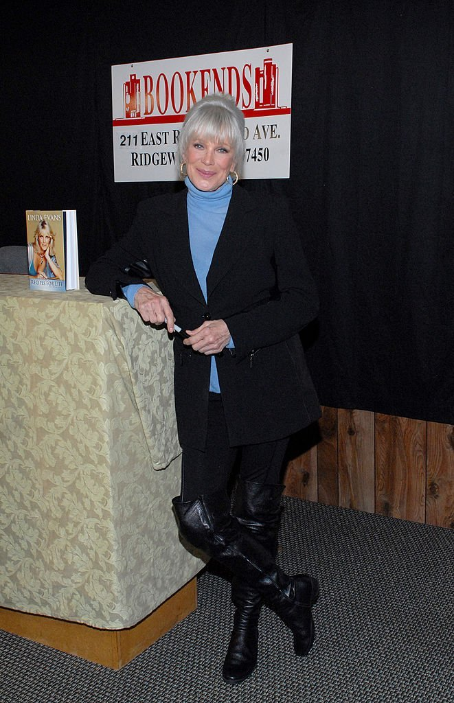 """Linda Evans promotes her book """"Recipes for Life"""" in Ridgewood, New Jersey on October 15, 2011 
