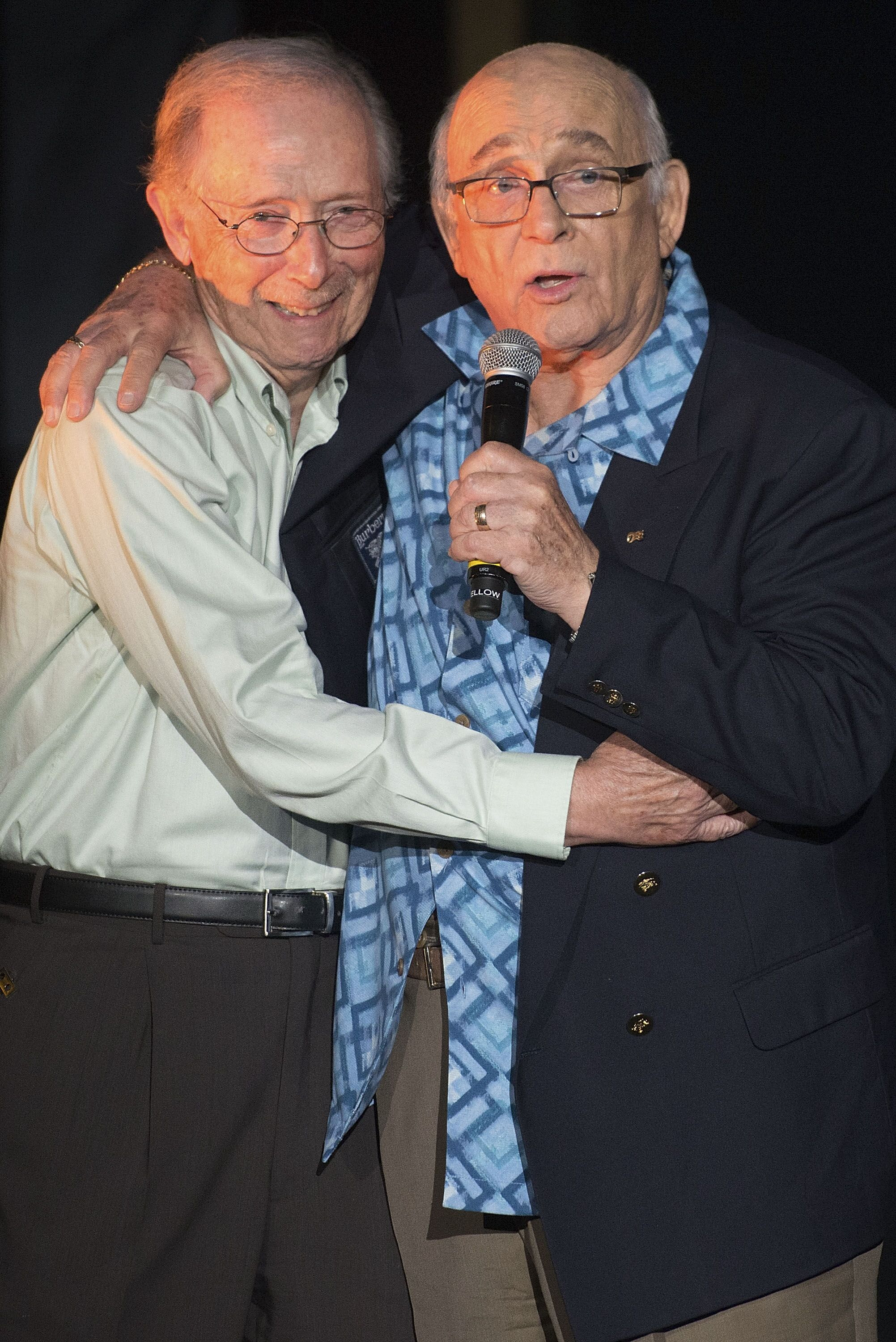 Bernie Koppell and Gavin MacLeod attend Stephen Schwartz's Magic To Do Premiere. | Source: Getty Images