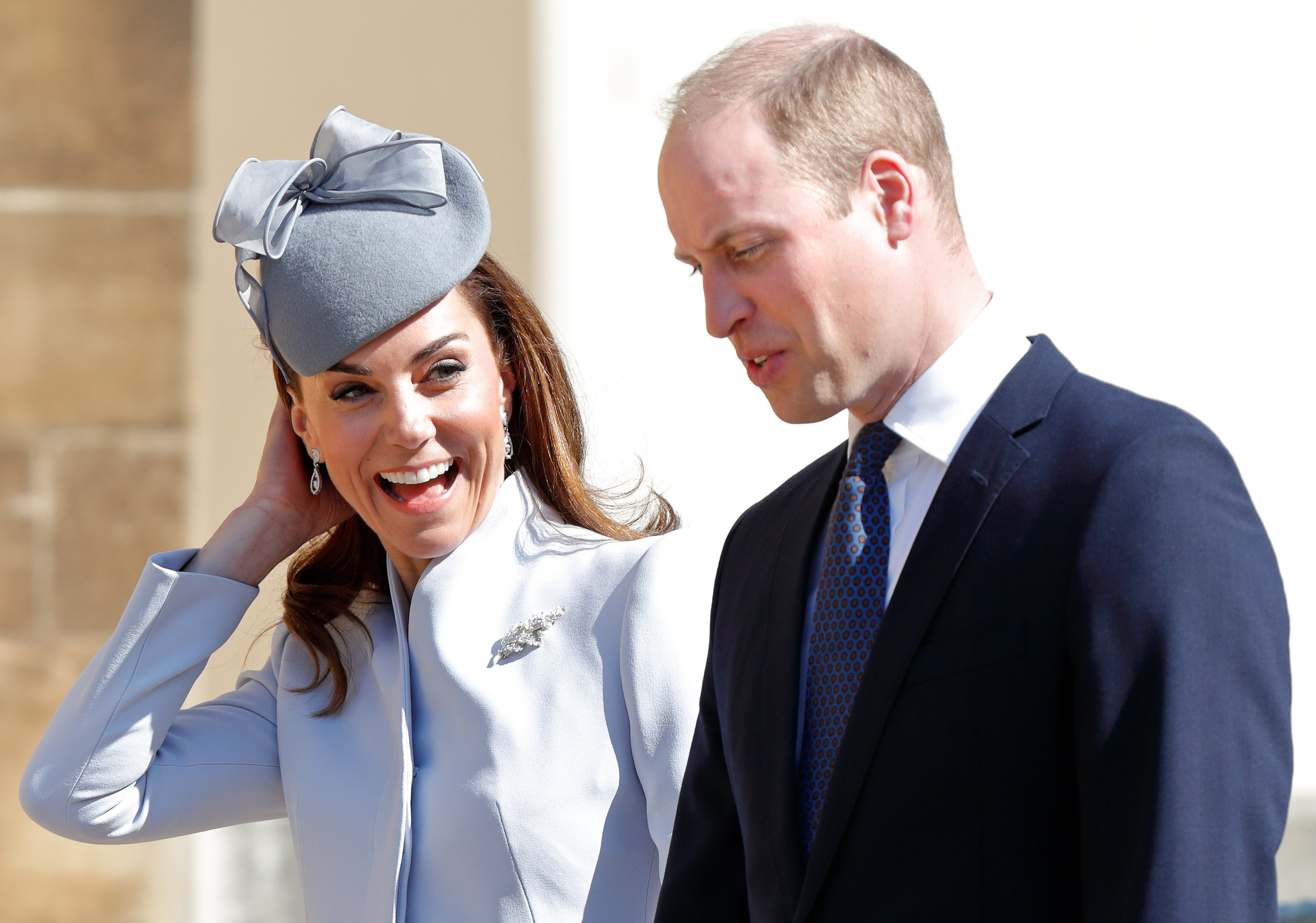 Kate Middleton and Prince William attend the Easter Sunday church service in Windsor, England on April 21, 2019 | Photo: Getty Images