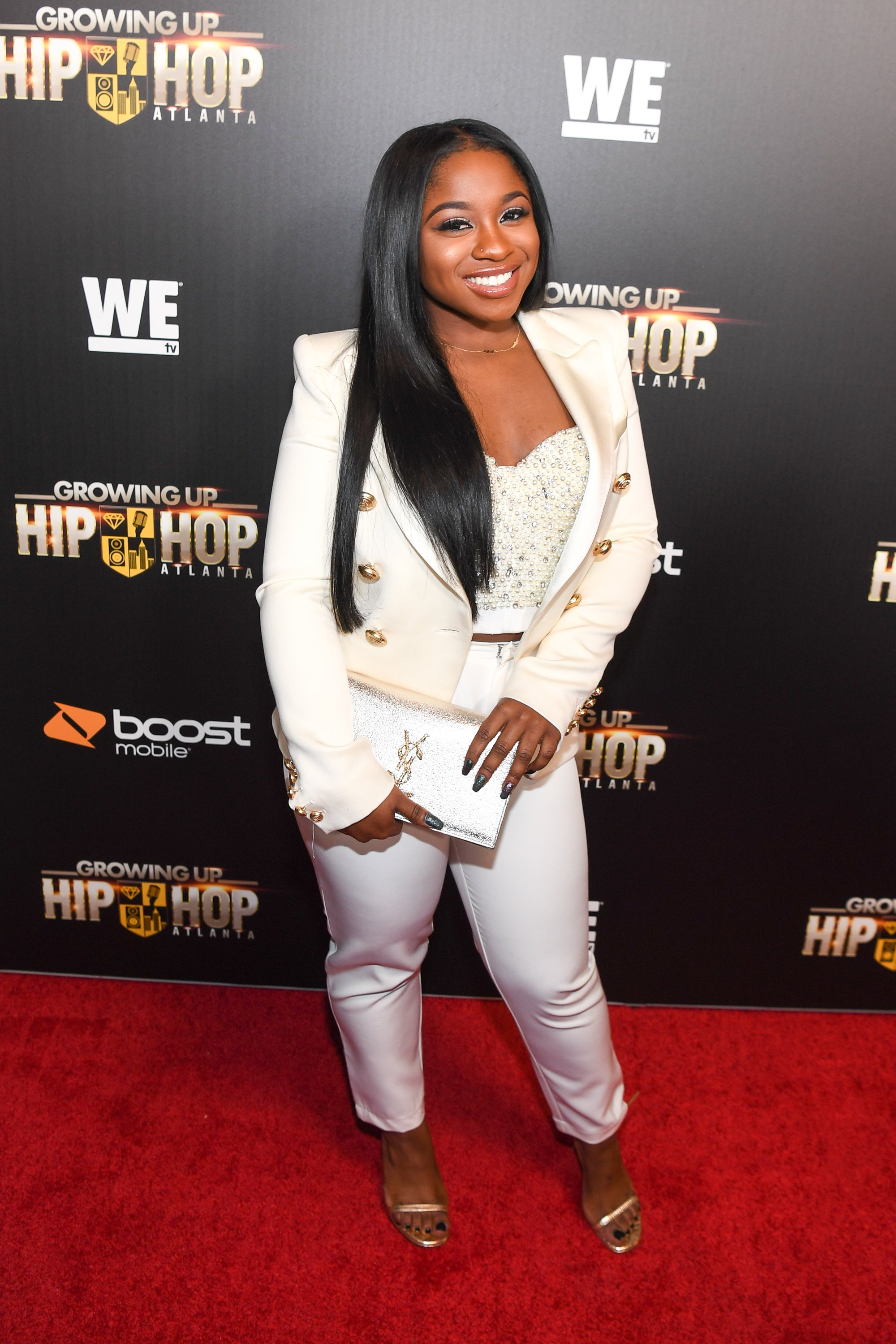 """Reginae Carter at the season 2 premiere of """"Growing Up Hip-Hop Atlanta"""" in January 2018. 