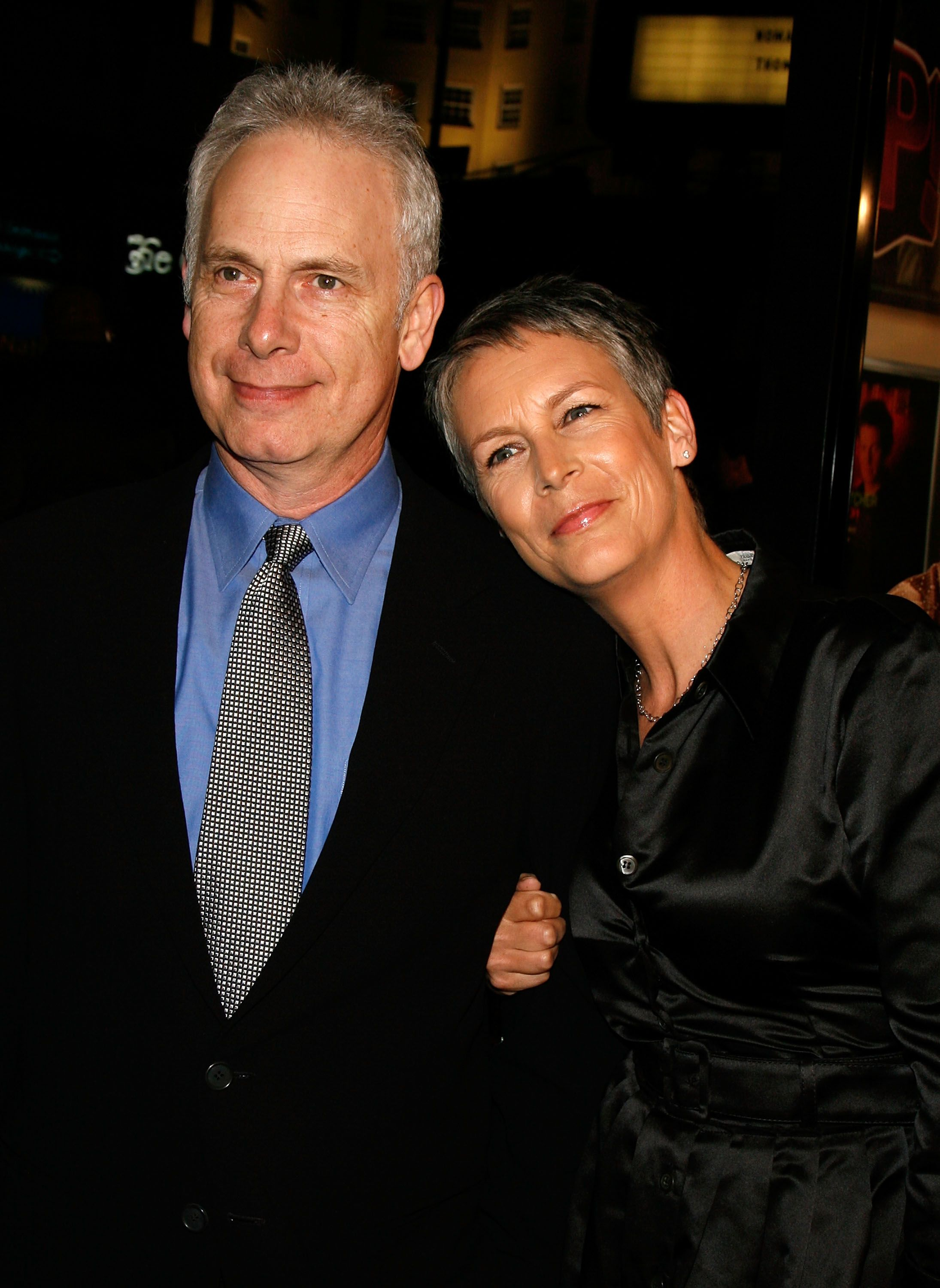 """Jamie Lee Curtis with husband Christopher Guest at the Warner Bros. premiere of """"Music and Lyrics"""" at the Grauman's Chinese Theatre in Hollywood, California   Photo: Kevin Winter/Getty Images"""