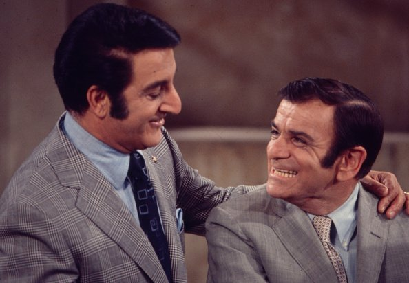 Danny Thomas, Sid Melton appearing on the Walt Disney Television series 'Make Room for Granddaddy' | Photo: Getty Images