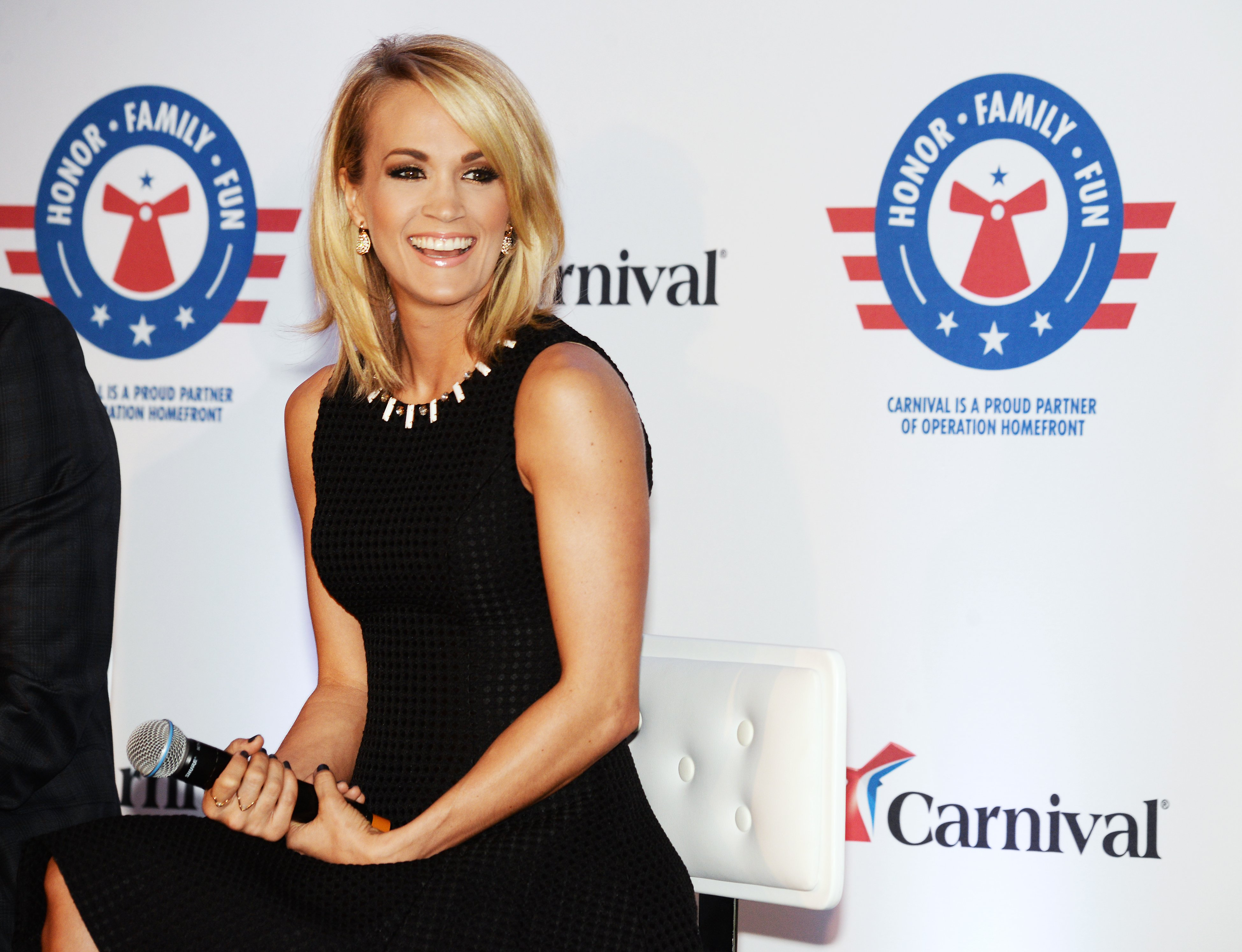 Country superstar Carrie Underwood attends a 2016 partnership event with Carnival Cruise Line in Jacksonville, Florida. | Photo: Getty Images