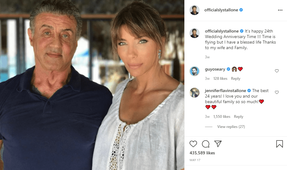 Stallone and his wife, Jennifer Stallone. | Photo: Instagram/officialslystallone/