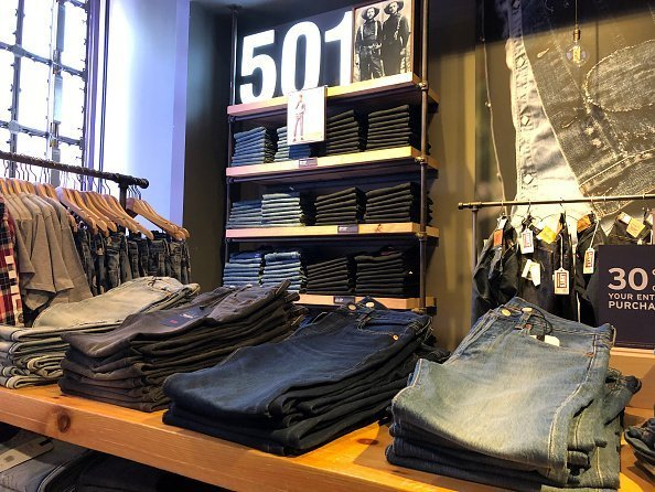 Levi's 501 jeans are displayed at a Levi's store in San Francisco, California | Photo: Getty Images