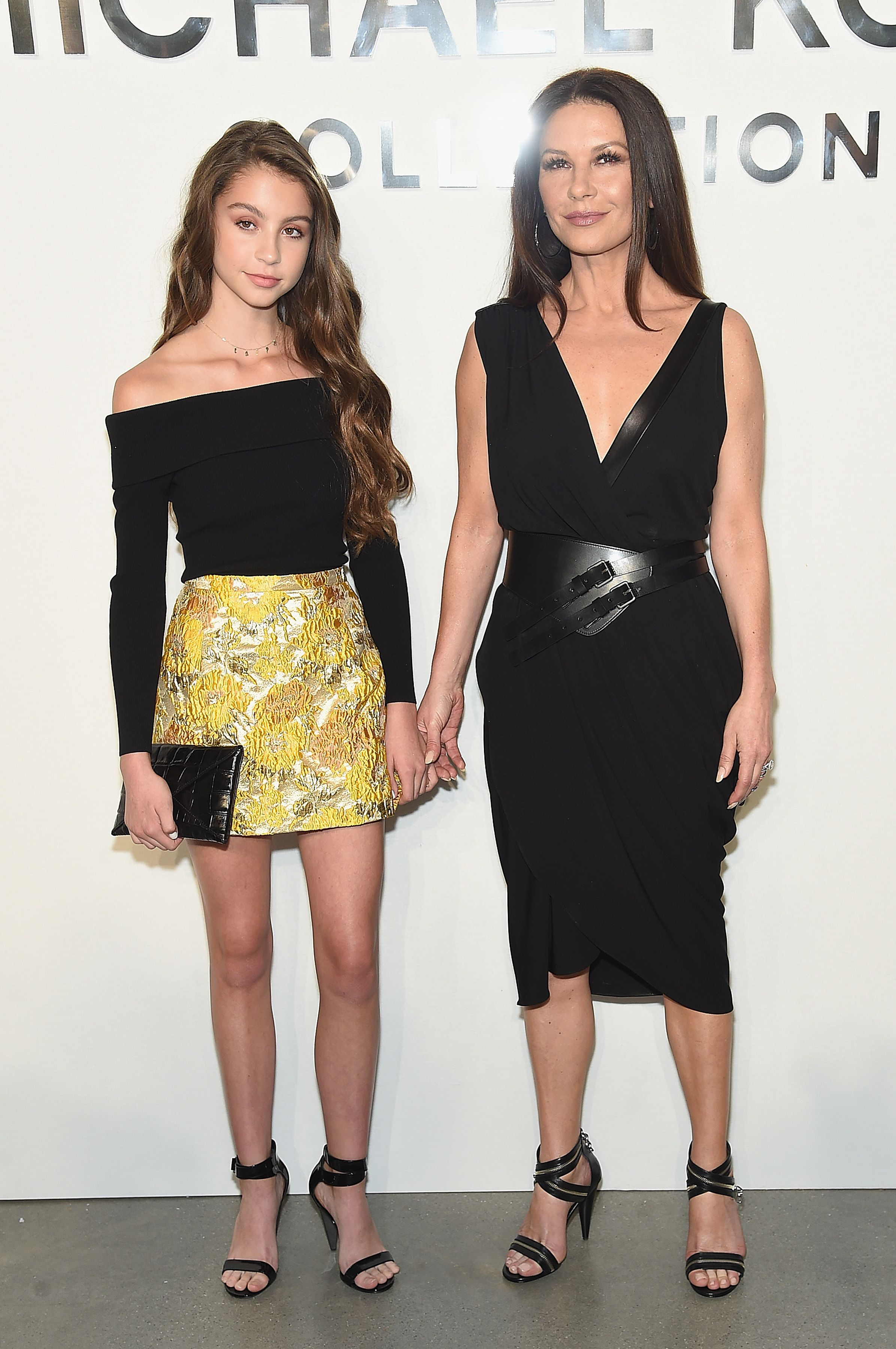 Catherine Zeta-Jones and Carys Zeta Douglas at the Michael Kors Collection Spring 2018 Runway Show at Spring Studios on September 13, 2017   Photo: Getty Images