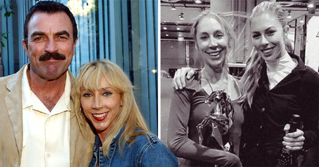 Hannah Selleck Is the Spitting Image of Her Mom Jillie Mack in a Rare Black and White Photo