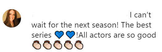 """A screenshot of a fan's comment on """"Yellowstone's"""" Instagram Page. 