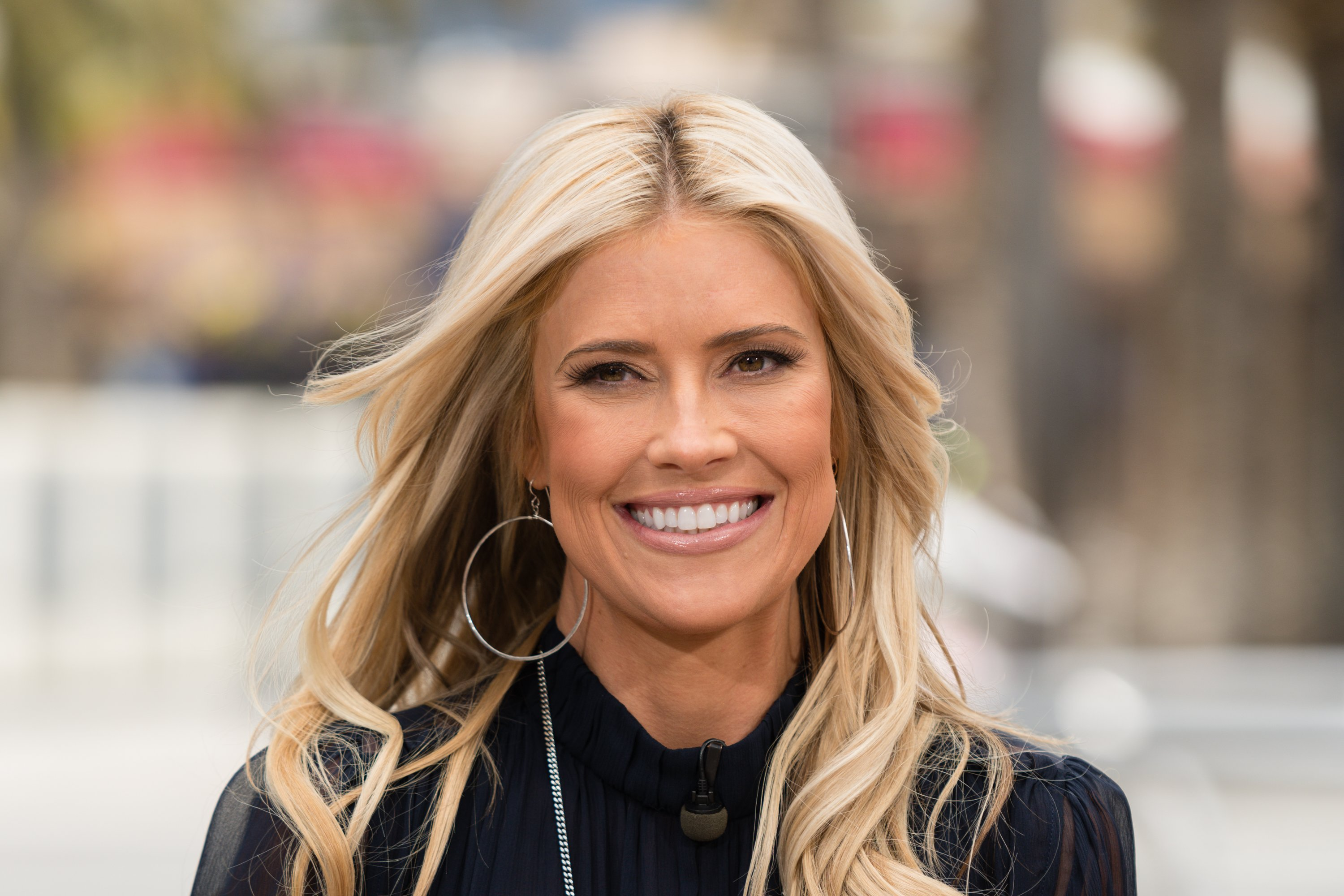 "Christina Anstead visits ""Extra"" on May 22, 2019, in Universal City, California. 