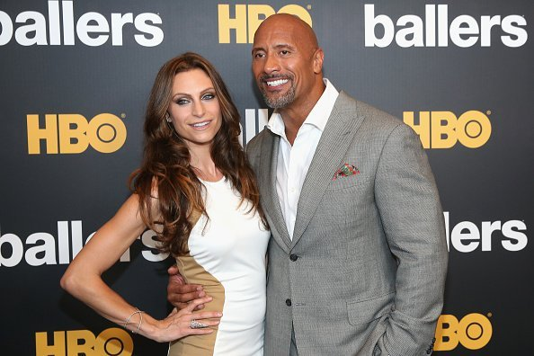 Dwayne Johnson and Lauren Hashian attend the HBO Ballers Season 2 Red Carpet Premiere | Image: Getty Images