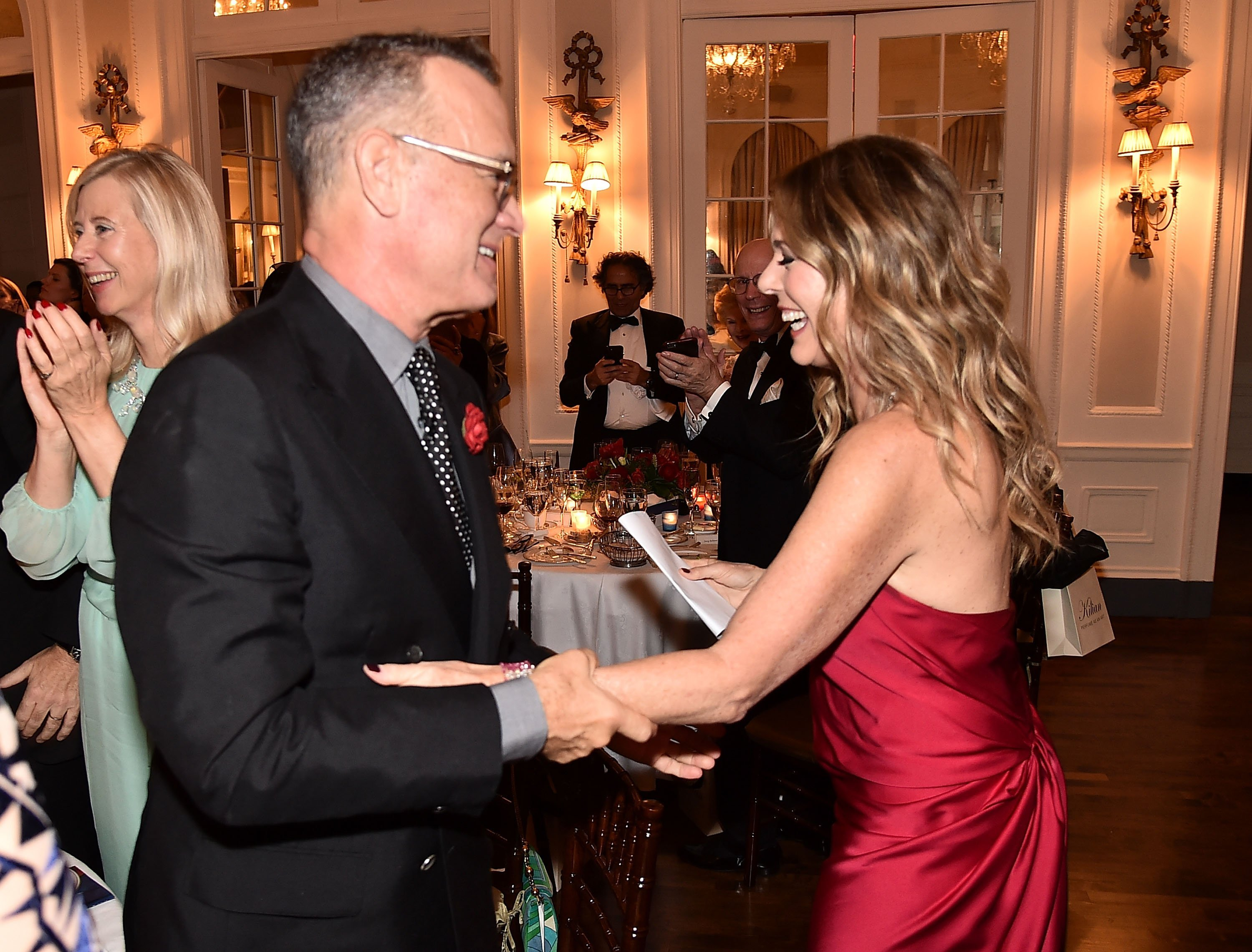 Tom Hanks and Rita Wilson attend the 2018 American Friends of Blerancourt Dinner in New York City on November 9, 2018 | Photo: Getty Images