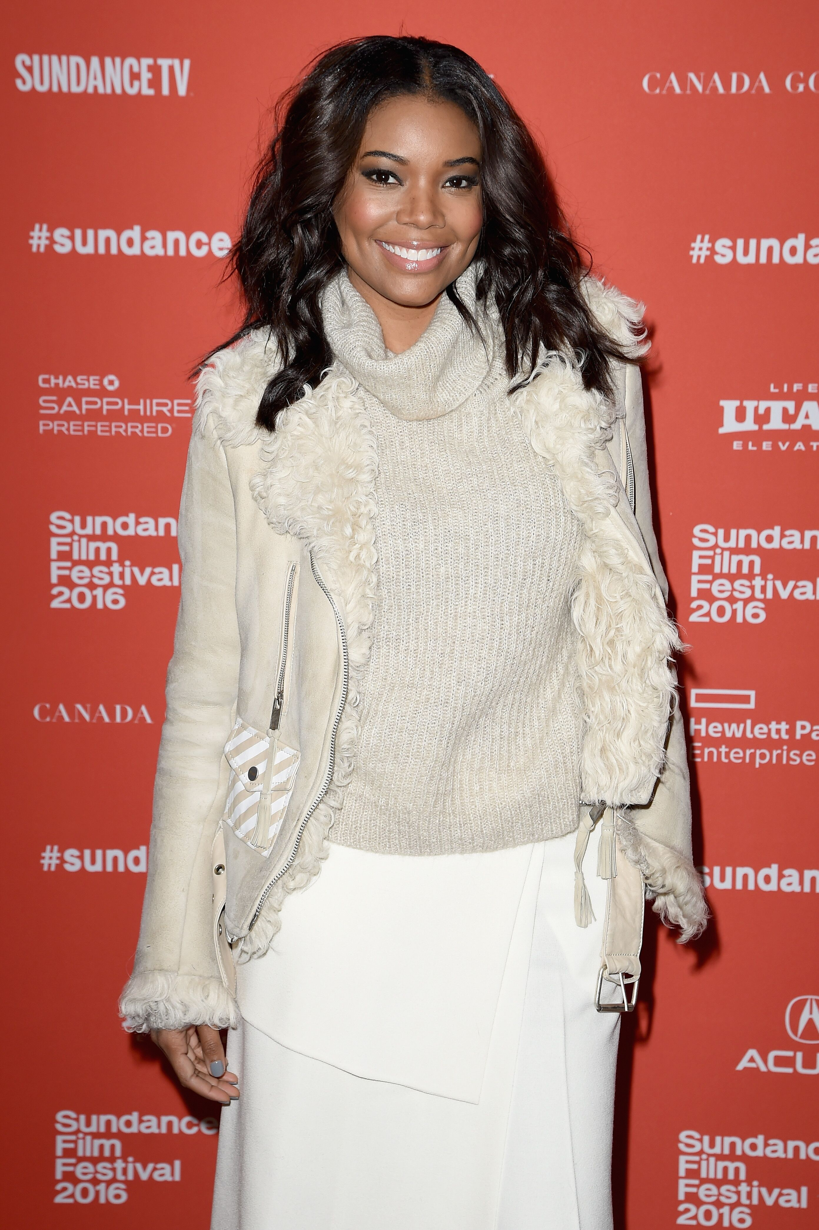 "Actress Gabrielle Union attends ""The Birth Of A Nation"" premiere during the 2016 Sundance Film Festival. 