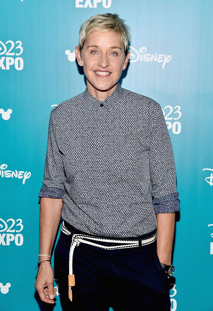 """Ellen DeGeneres during """"Pixar and Walt Disney Animation Studios: The Upcoming Films"""" presentation at Disney's D23 EXPO 2015 in Anaheim, California. 
