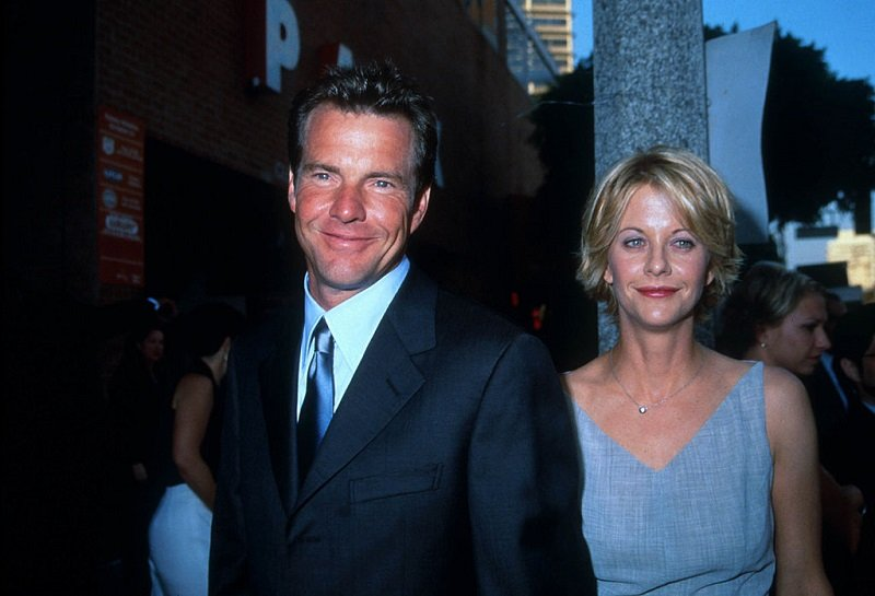 Dennis Quaid and actress Meg Ryan in Los Angeles, CA., on July 20, 1998 | Photo: Getty Images