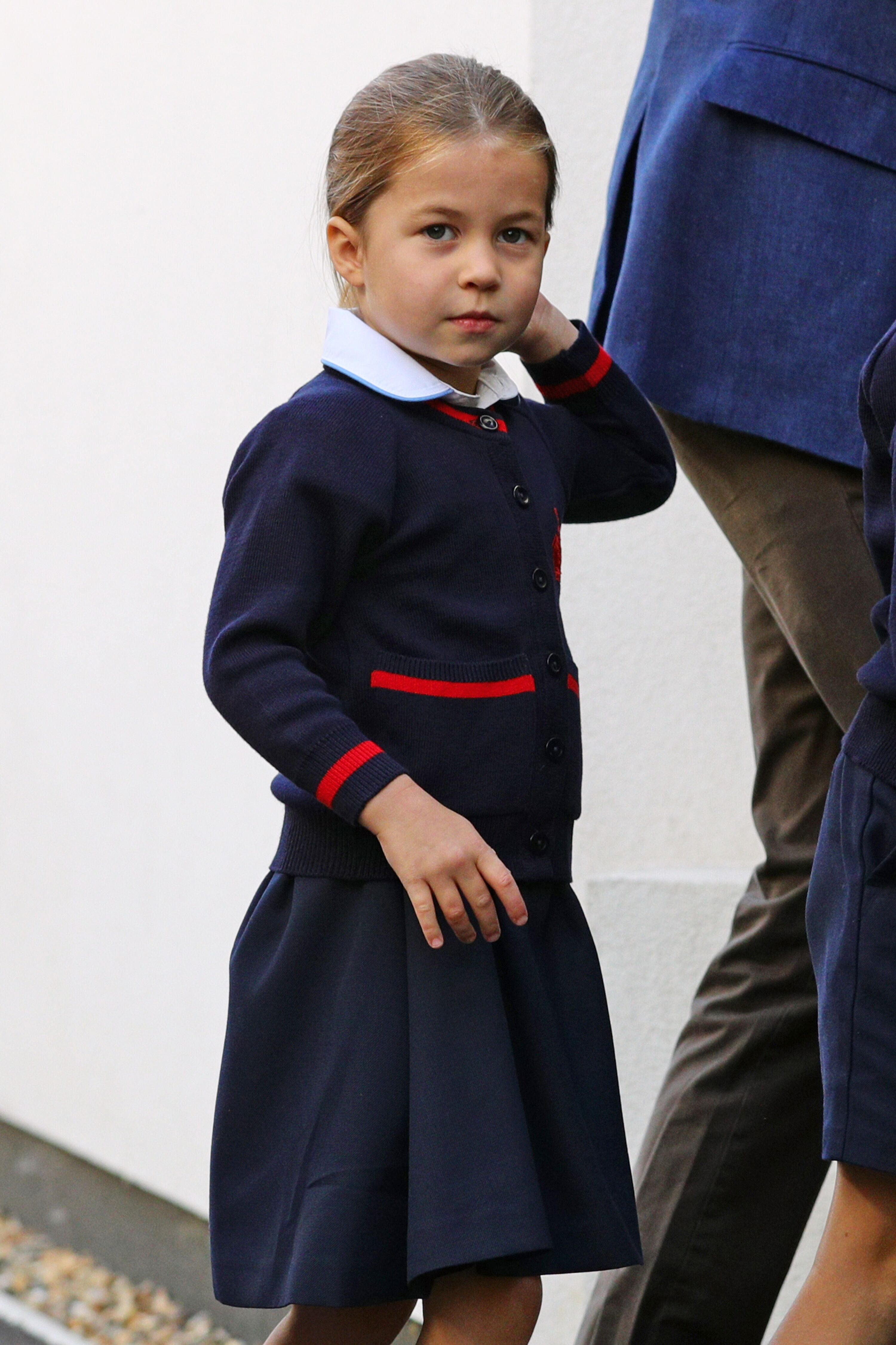 rincess Charlotte arrives for her first day of school at Thomas's Battersea in London on September 5, 2019 in London, England. | Photo: Getty Images