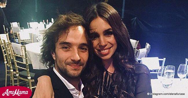 La hija de Lolita Flores, Elena Furiase, publicó su primera foto con el padre de su hijo