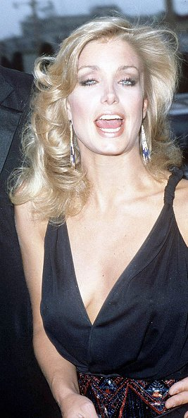 Heather Thomas attending a red carpet event, circa 1992. | Source: Getty Images.