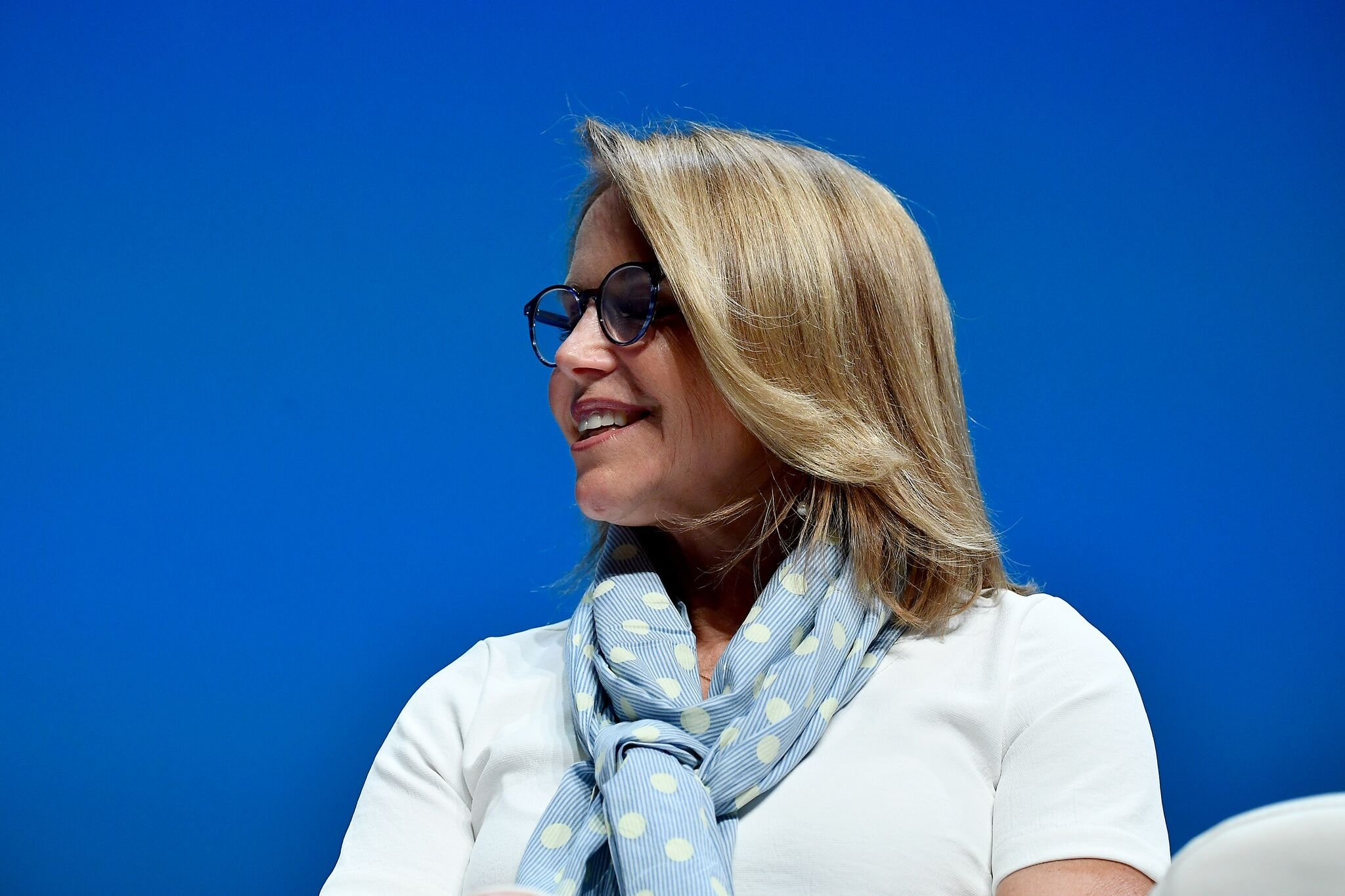 Katie Couric speaks onstage during the P&G session at the Cannes Lions Festival 2018  | Getty Images