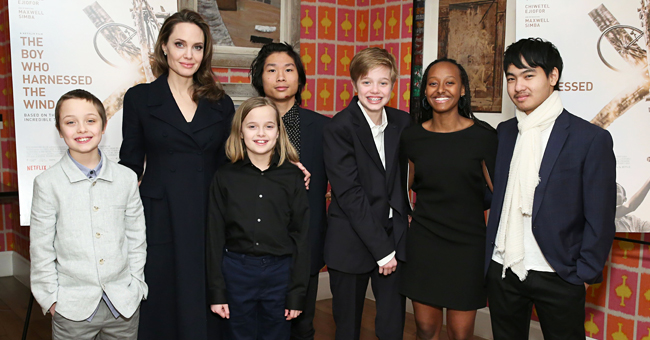 Angelina Jolie Spotted Grocery Shopping with Three of Her Children on Mother's Day