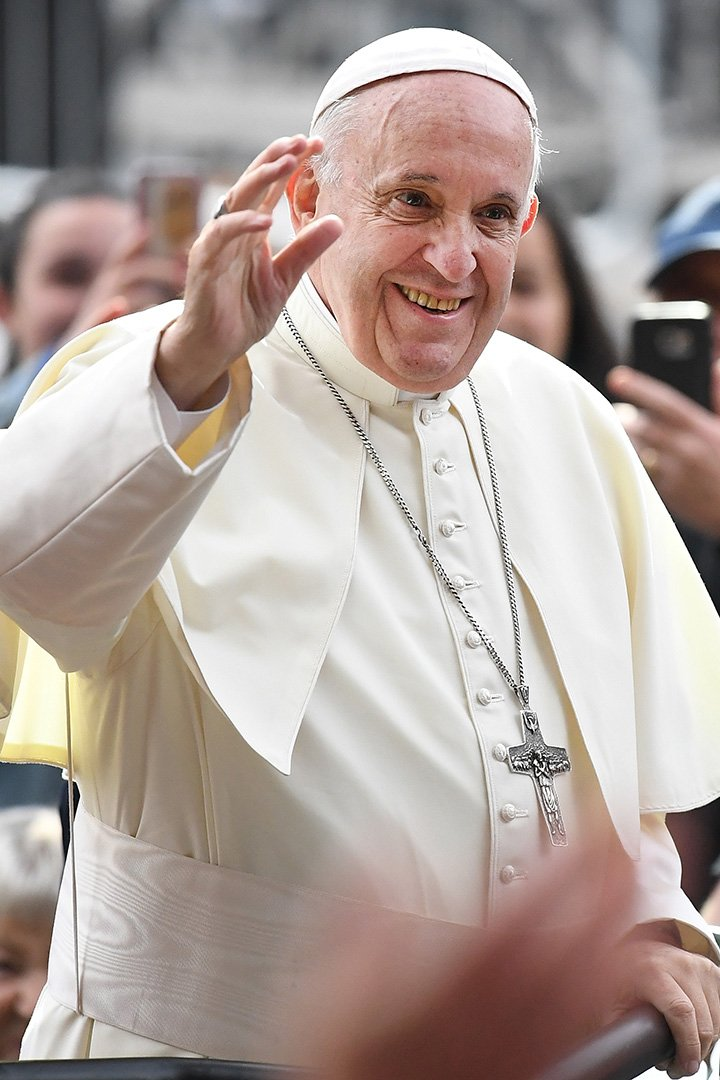 Pope Francis attending the festival of families at Croke Park in Dublin, Ireland, in August 2018. I Image: Getty Images.