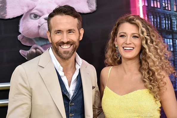 "Ryan Reynolds and Blake Lively attend the premiere of ""Pokemon Detective Pikachu"" at Military Island in Times Square on May 2, 2019 in New York City 