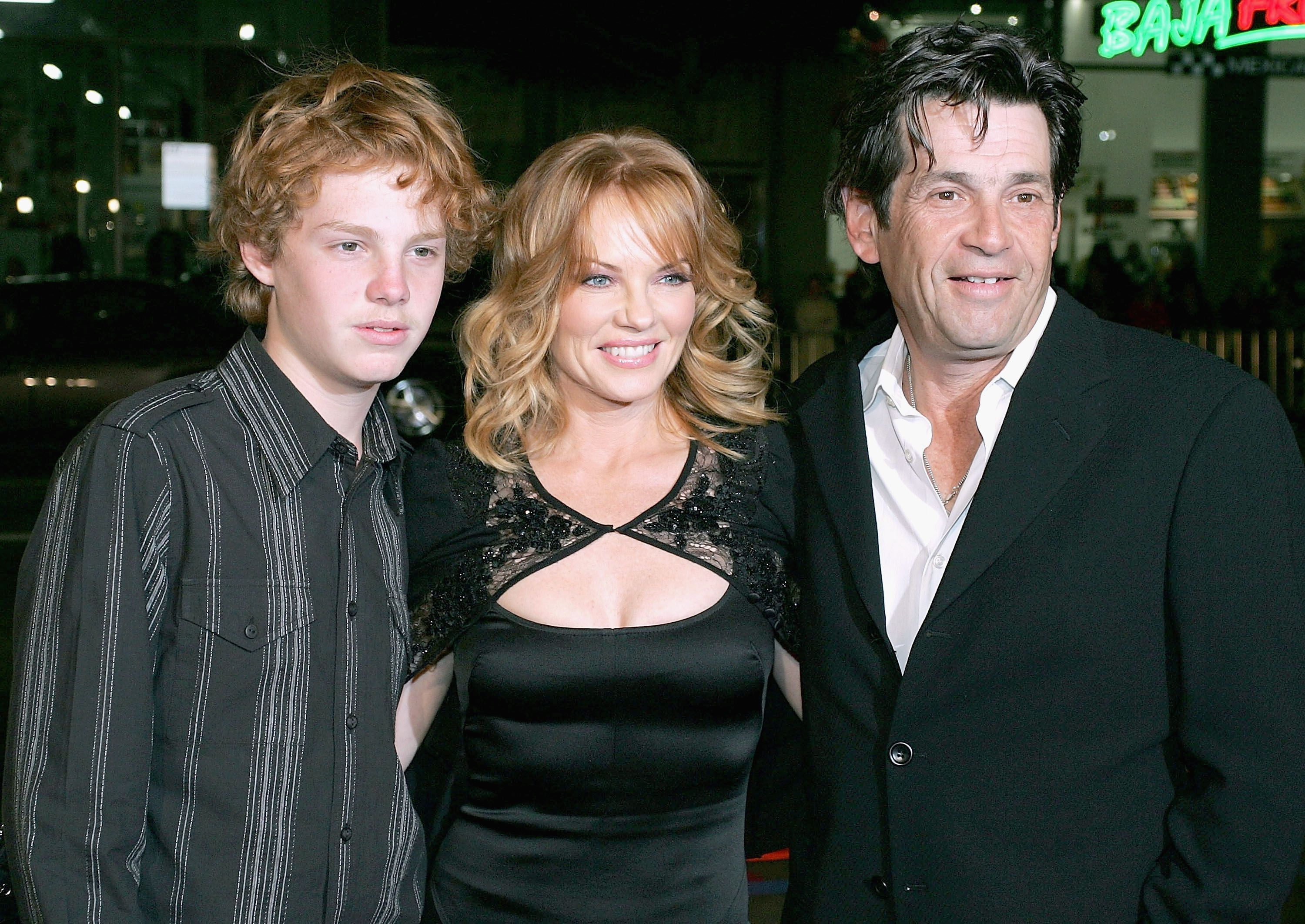 Alan Rosenberg, Marg Helgenberger and their son Hughie at Rape Treatment Center Annual Benefit in 2005 | Source: Getty Images