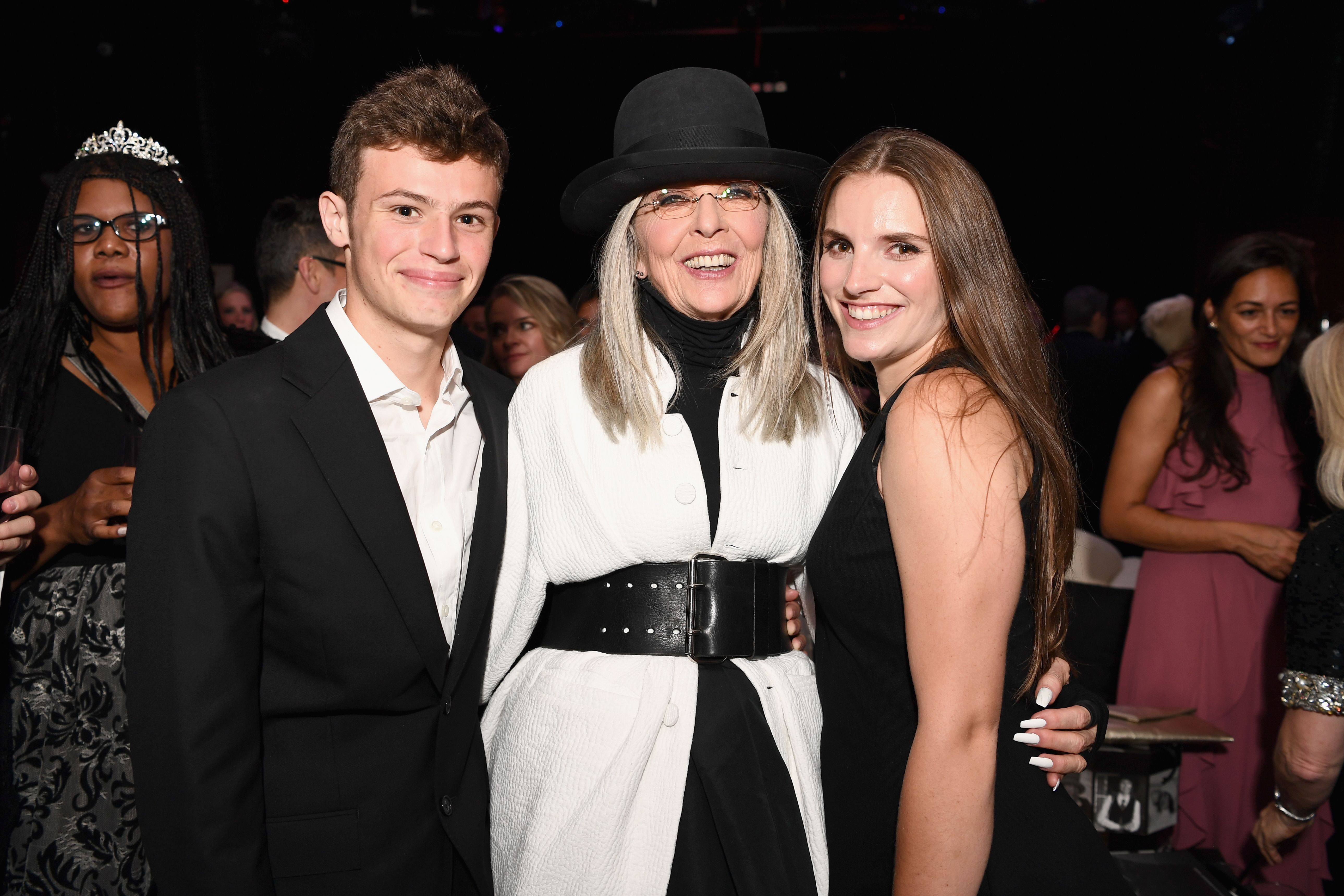 Diane Keaton with daughter Dexter and son Duke at the after party for American Film Institute's 45th Life Achievement Award Gala Tribute to Diane Keaton in 2017 in Hollywood | Source: Getty Images