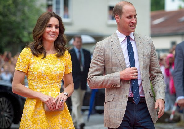 Britain's Prince William and his wife Catherine, Duchess of Cambridge, arrive at the Deutsches Krebsforschungszentrum in Heidelberg, Germany, 20 July 2017. | Photo : Getty Images