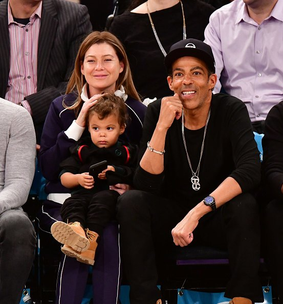 Ellen Pompeo, Eli Ivery and Chris Ivery at Madison Square Garden on November 20, 2018 in New York City. | Photo: Getty Images