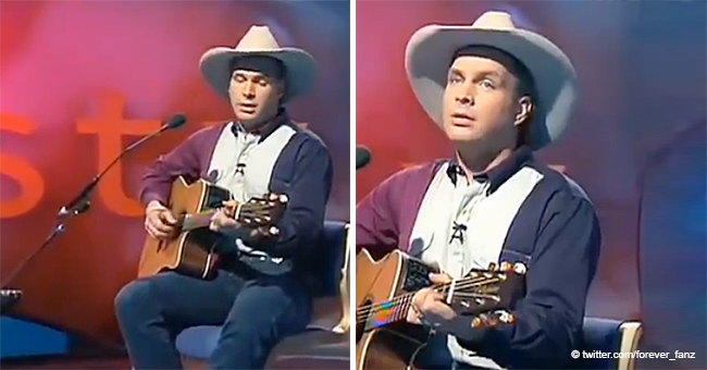 Young Garth Brooks Sings a Touching Song to His Baby Girl, and It's Pure Love