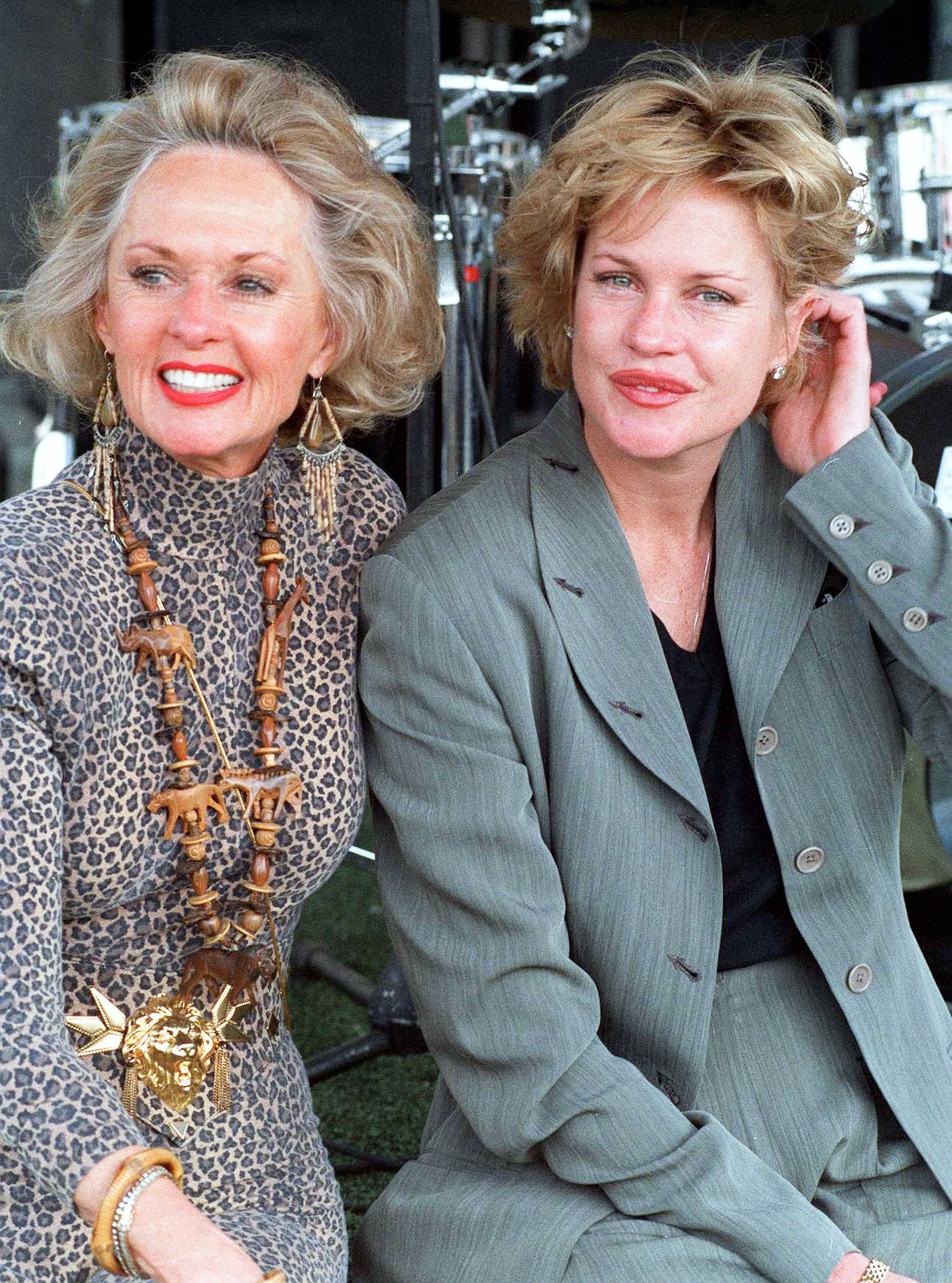 Melanie Griffith and Tippi Hedren, during 'Artists for Shambala' Animal Preservation Benefit - October 30, 1994 in Acton, California, United States. | Photo: Getty Images