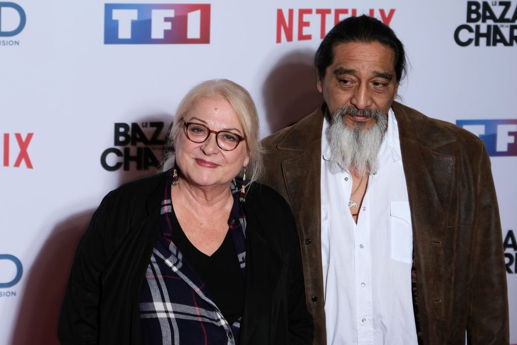 "Josiane Balasko et George Aguilar assiste au Photocall ""Le Bazar De La Charite"" Au Grand Rex le 30 septembre 2019 à Paris, France. 