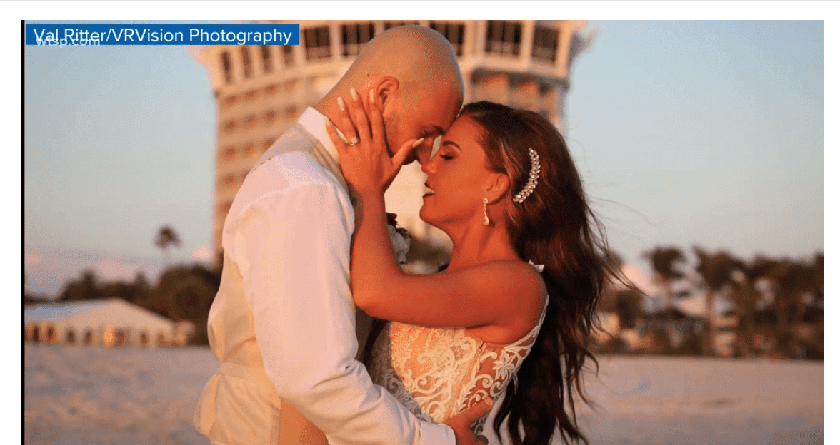 Sadie and Adam Dajka's fairytale wedding took an unexpected turn | Screenshot: wtsp.com