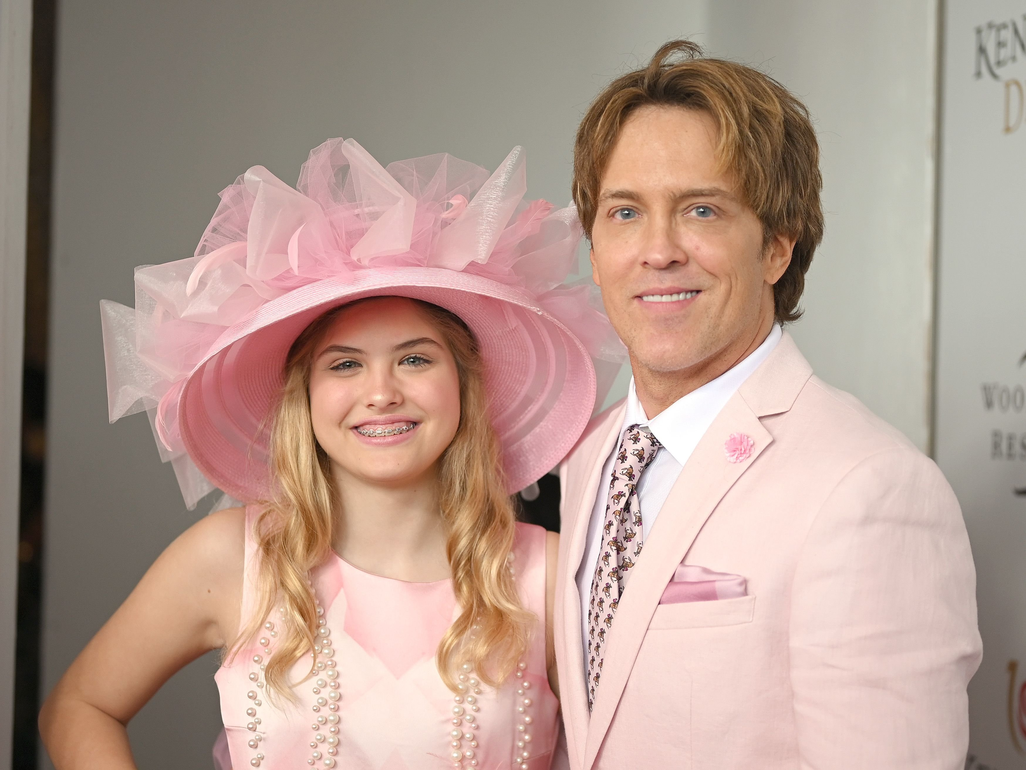 Dannielynn Birkhead and Larry Birkhead at the 145th Kentucky Derby on May 04, 2019 in Louisville | Getty Images