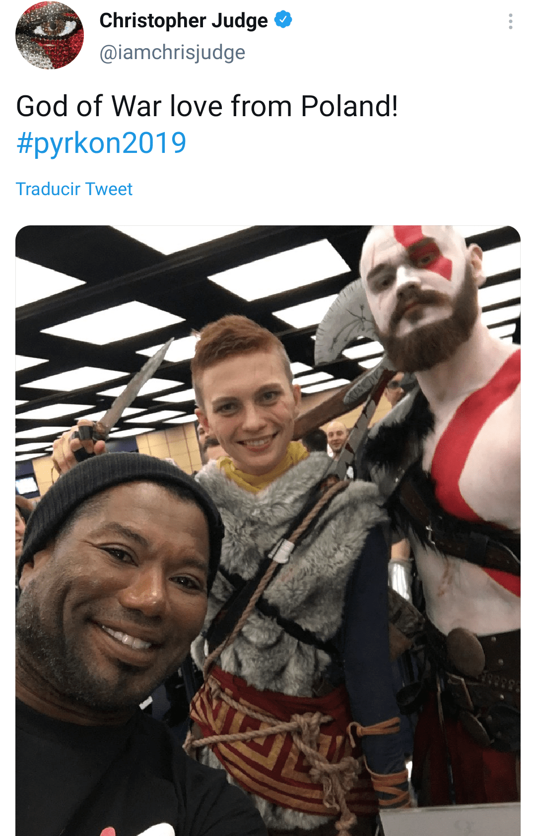 Christopher Judge at an event in Poland   Photo: Twitter/iamchrisjudge